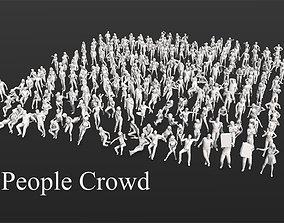 275 People Crowd Pack 3D model