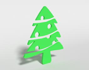Low Poly Fir Tree Decorative Object 3D asset