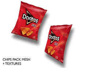 3D model Doritos chips pack mesh
