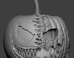 Venom Pumpkin Holloween Jackolantern 3D print model