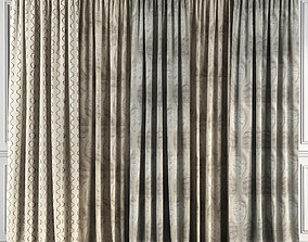 3D model Curtain Set 70