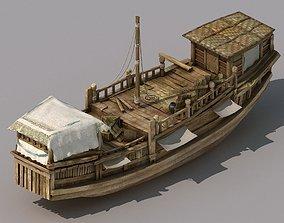 Game Transportation - Large wooden boat 2704 3D model