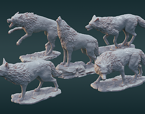 3D print model A pack of wolves