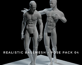Realistic Basemesh - Male - Pose Pack 3D model