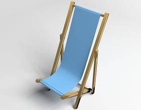 Deck Folding Chair 3D model