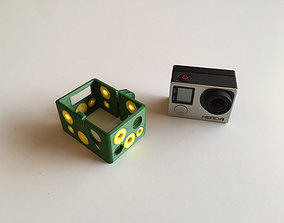 GoPro Hero 4 BacPac Frame - Dual Extrusion 3D print model