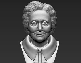 Hillary Clinton bust 3D printing ready stl obj