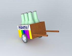 3D model Soju Cart