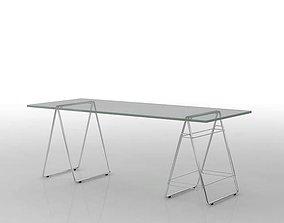 3D model Long Glass Foldable Table