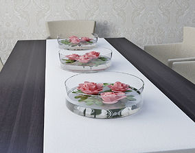 decor of roses 3D