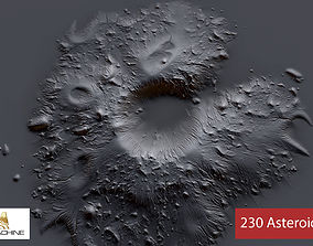 3D 230 Asteroid Alphas - Zbrush Brush Textures