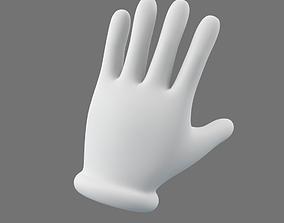 Cartoon Glove Hands Low Poly - 5 fingers 3D asset