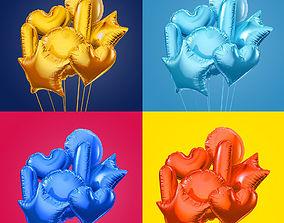 3D Colorful foil balloons