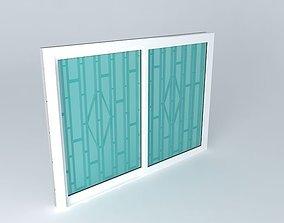 Aluminium window 3D