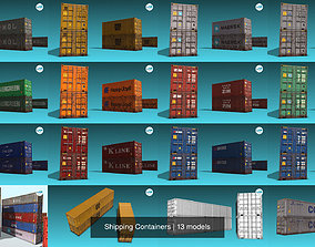 3D model PBR Shipping Containers