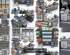 Supermarket trade 3D model