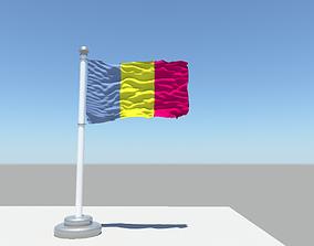 Chad Flag 3D model