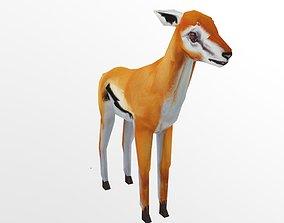 Gazelle 3D model VR / AR ready