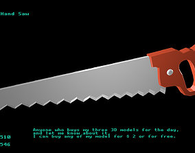 3D asset Low poly Hand Saw