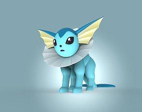 miniatures 3D print model Vaporeon Pokemon eevee evolution