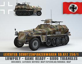 3D asset Low Poly Schutzenpanzerwagen SdKfz 250 1