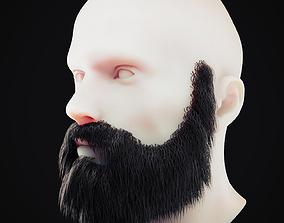 3D asset Beard Low Poly 9