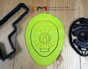 3D print model Police badge and gun set