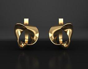 3D printable model Moebius ribbon earrings