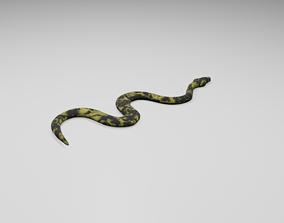 3D model VR / AR ready Snake