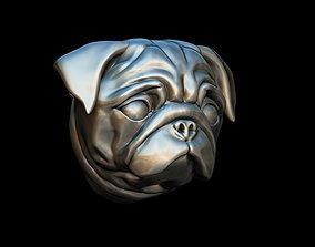 3D print model Pug dog mops pendant head