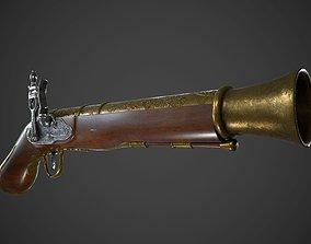 Ancient Shotgun 3D asset