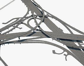 lamp Highway Road Junction 3D model