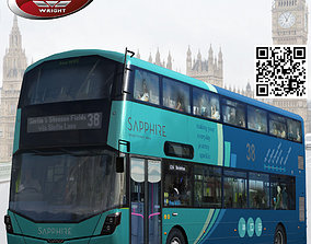 Wrightbus Streetdeck Sapphire livery 3D asset rigged