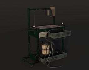 Old Operating Sterilization Asylum low-poly 3D model