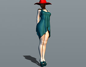 Sexy girl in a red hat 3D printable model