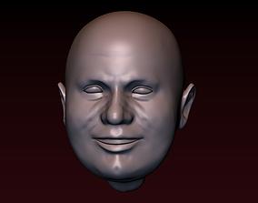 3D printable model Male head 20 Man head - smiling face