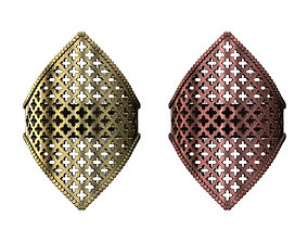 Moucharabieh moroccan beldi gold ring 3D print model