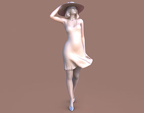 Woman Wind Walk 3D printable model