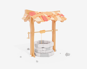 3D model game-ready Water Well