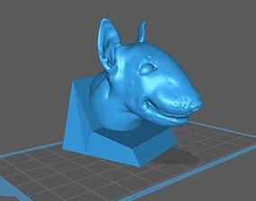 3D print model English Bull Terrier Head Bust