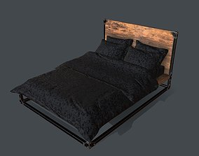 Industrial Style Queen Bed for PBR Challenge - 3D asset 1