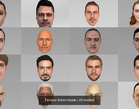 3D model Famous Actors heads freeman