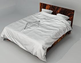 Modern bed with bedding sleeping furnitureset-challenge 3D