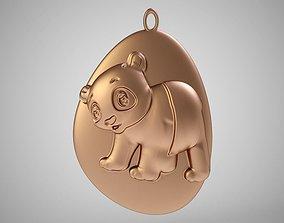 3D print model Rock Panda Necklace