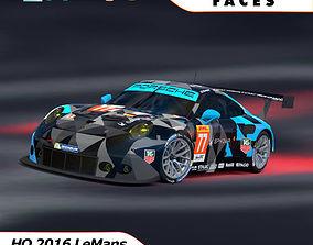 3D model Porsche 2016 GT3 R - Dempsey Proton Racing Le