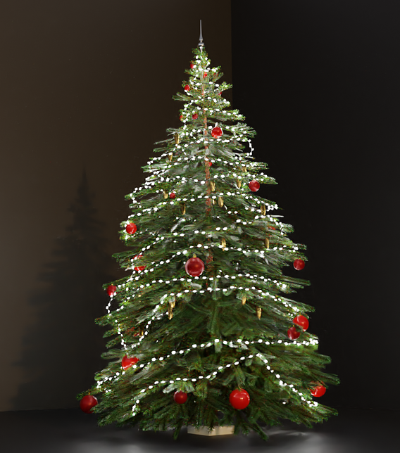 Lowpoly Christmas Tree Indoor Version 2 (Blender-2.91 Cycles Render)