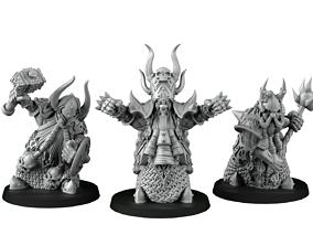 Chaos Dwarf 3D printable model games-toys