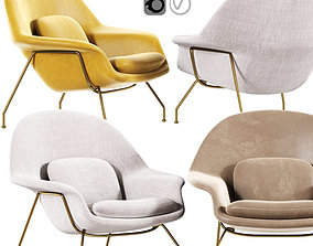Womb Chair upholstery 3D model