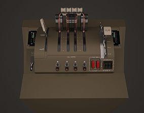 B747 Throttle Quadrant 3D model