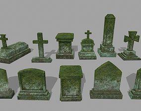 3D asset VR / AR ready Tombstone